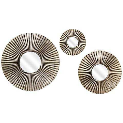 Piper 3-Piece Round Metal Mirror Set