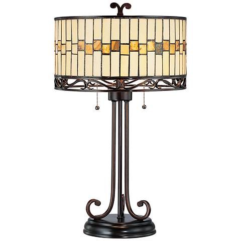 Lite Source Omora Bronze Tiffany Style Table Lamp