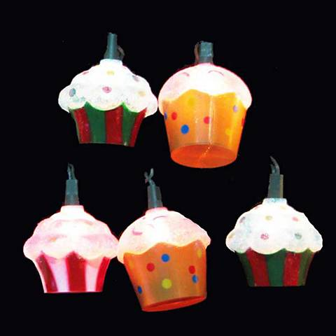 Ten Cupcakes Party String Lights