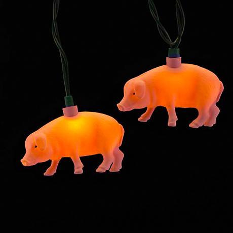 Ten Pink Pig String Lights