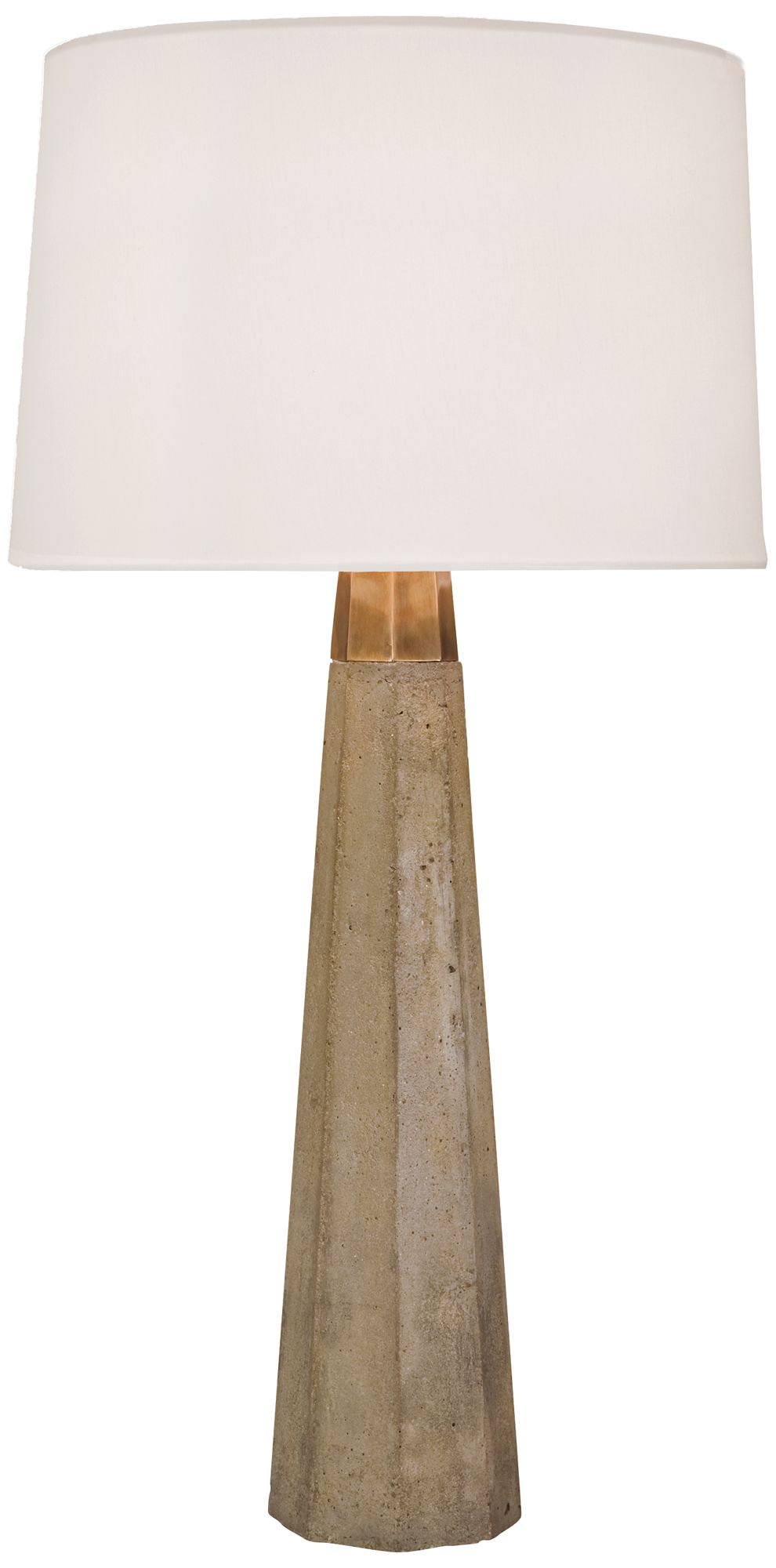 Regina Andrew Design Concrete and Brass Table Lamp 5W909