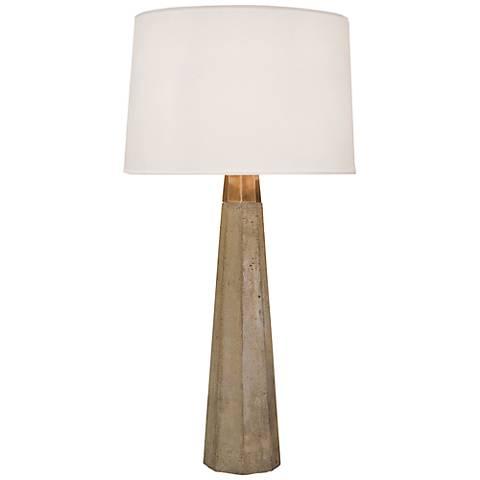 Regina Andrew Design Concrete and Brass Table Lamp