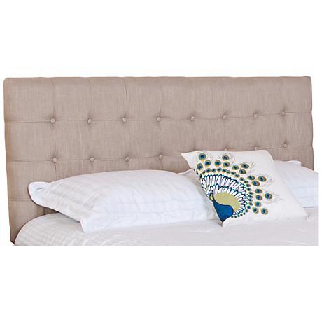 Austin Eggshell Tufted Full/Queen Upholstered Headboard