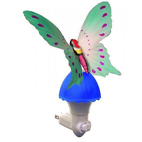 Butterfly Blue Fiber Optic LED Night Light
