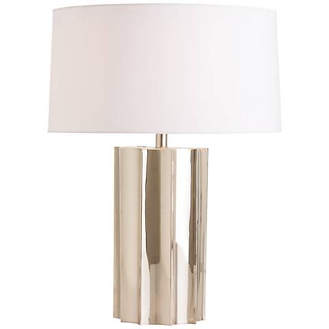 Arteriors Home Jensen Origami Polished Nickel Table Lamp