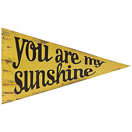 "Sunshine 18"" Wide Pennant Wall Art"