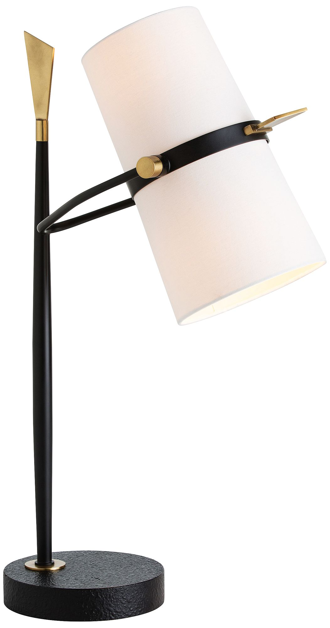 Arteriors Home Yasmin Black and Brass Table Lamp 5X264 Lamps Plus