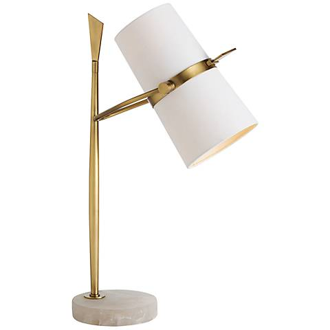 Arteriors Home Yasmin Marble and Brass Table Lamp