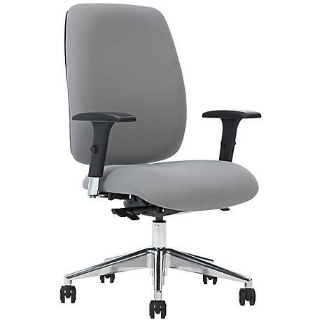 Viva Gray Straight Arm Task Chair with Ergo Balance Control