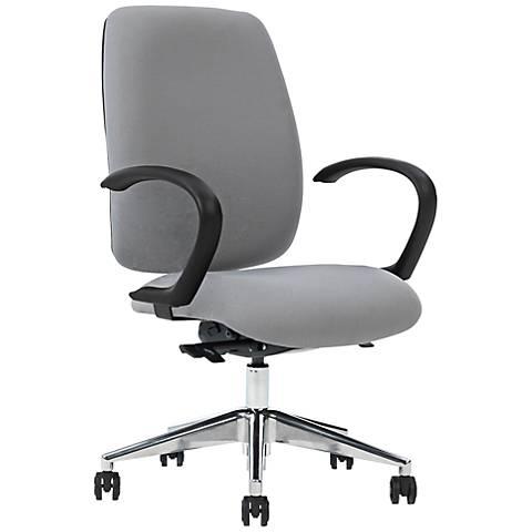 Viva Gray Curved Arm Task Chair with Ergo Balance Control