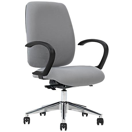 Viva Gray Curved Arm Task Chair with Ergo Balance Control
