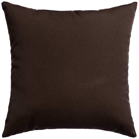 "Sunbrella® Bay Brown 18"" Square Indoor-Outdoor Pillow"