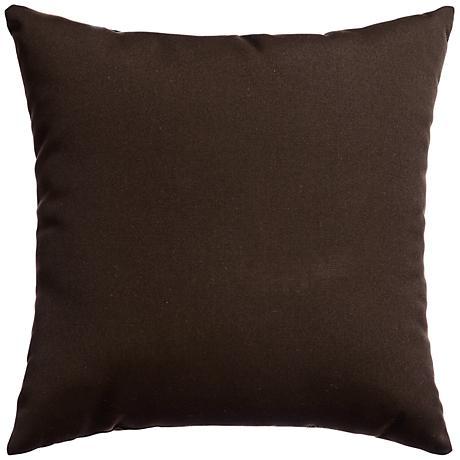 """Sunbrella® Bay Brown 18"""" Square Outdoor Decorative Pillow"""