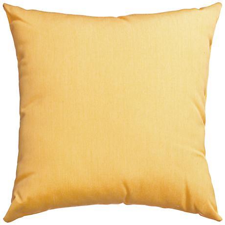 """Sunbrella® Buttercup 18"""" Square Outdoor Decorative Pillow"""