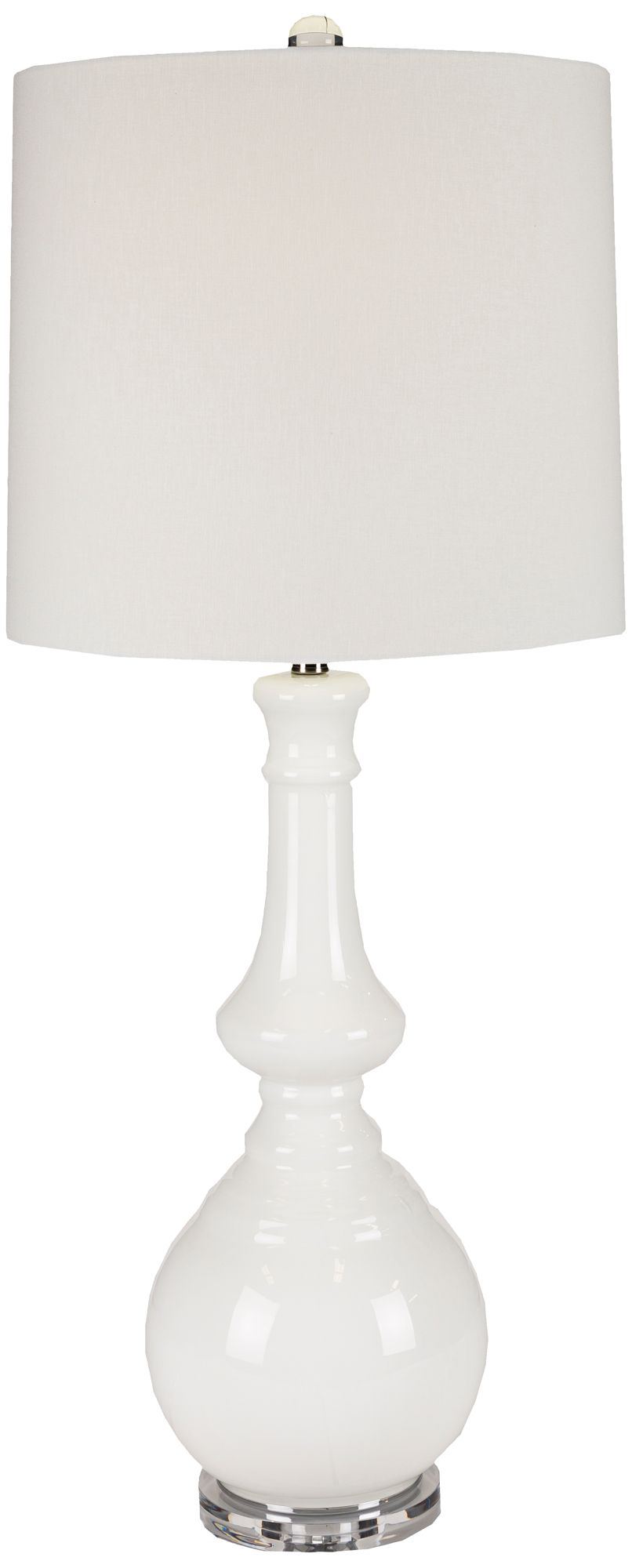 Angus White Glass Tall Table Lamp