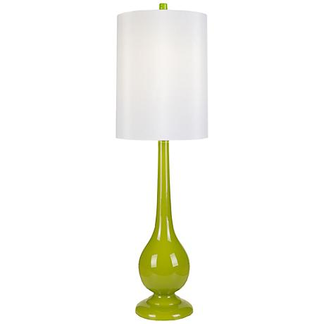 Loma Vista Lime Glass Tall Table Lamp