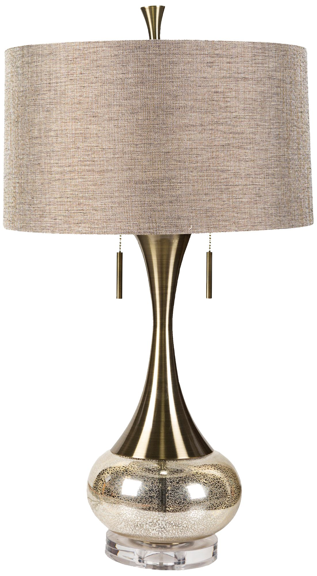Roxy Aged Brass And Mercury Glass Table Lamp