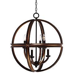 "Millington 23 1/2"" Wide Bronze Pendant Light"