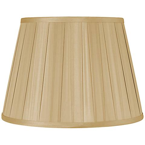Gold Euro Box Pleat Shade 10x14x10 (Spider)
