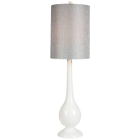 loma vista white glass tall table lamp 5x803 lamps plus. Black Bedroom Furniture Sets. Home Design Ideas