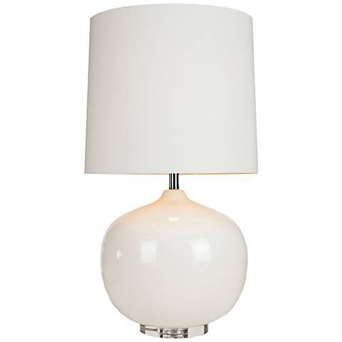 Virgil Ivory White Ceramic Table Lamp
