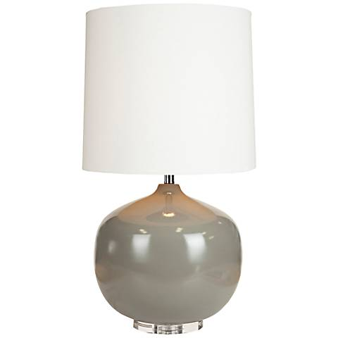 Virgil Gray Ceramic Table Lamp