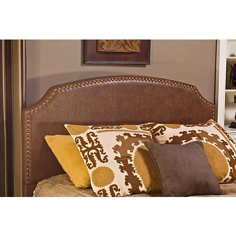 Hillsdale Durango Brown Faux Leather Headboard