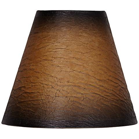 Distressed Faux Paper Empire Shade 3x6x5 (Clip-On)