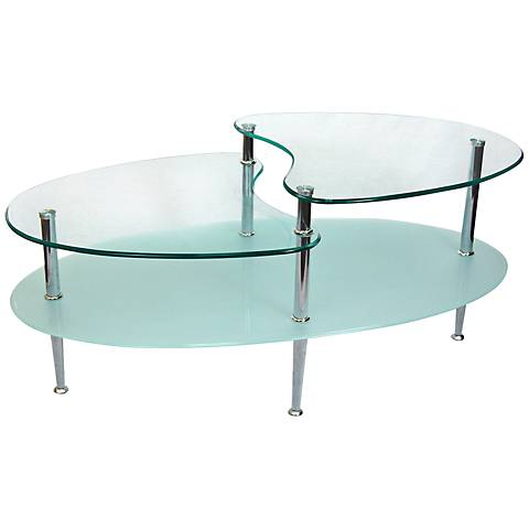Mariner Contemporary Oval Coffee Table