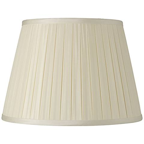 Eggshell Box Pleat Silk Shade 5x8x6 (Spider)