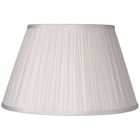 White Pinched Pleat Rectangle Shade 14 7x14 7x10 Spider