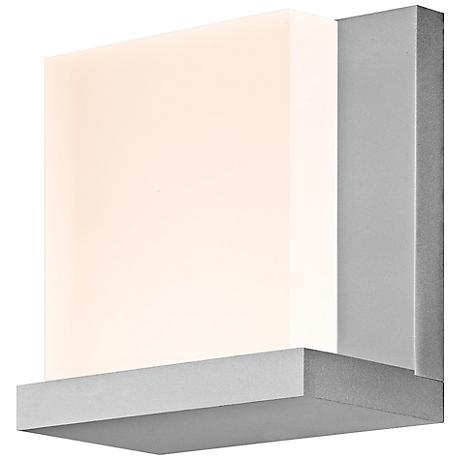 "Sonneman Glow2 5 1/2"" High Satin Aluminum LED Wall Sconce"