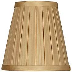 Fawn Box Pleat Silk Chandelier Shade 3x5x5 Clip On