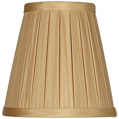 Fawn Box Pleat Silk Chandelier Silk Shade 3x5x5 (Clip-On)
