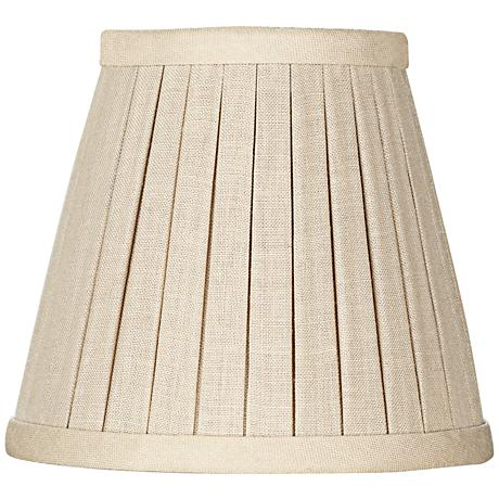 Beige Box Pleat Chandelier Shade 3x5x4.5 (Clip-On)