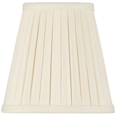 Eggshell Box Pleat Linen Shade 3x5x5 (Clip-On)