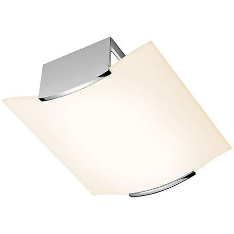 """Sonneman Wave 11 3/4"""" Wide Polished Chrome Ceiling Light"""