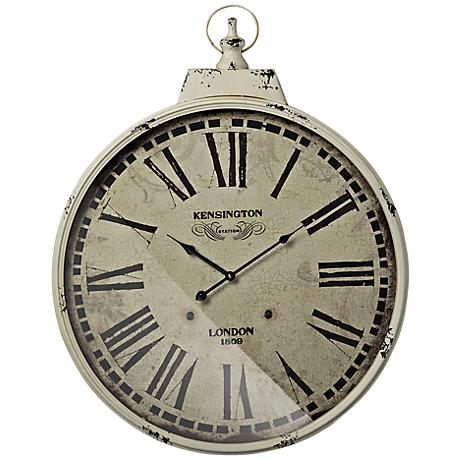 "Kensington Station 24"" Round Wall Clock"