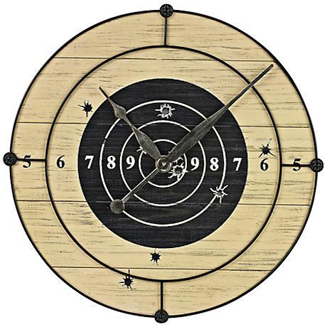 "Target Practice 20"" Round Wall Clock"