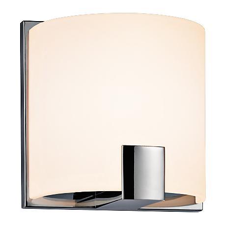 "Sonneman C-Shell 5"" High Polished Chrome LED Wall Sconce"