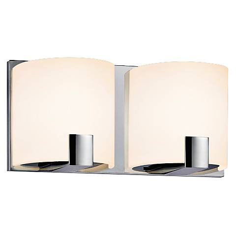 "Sonneman C-Shell 5"" High 2-Light Chrome LED Sconce"