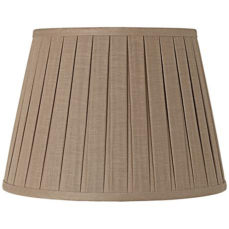 Taupe Open Box Pleat Linen Shade 10x14x10 (Spider)