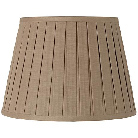 Taupe Open Box Pleat Linen Shade 10x16x10 (Spider)