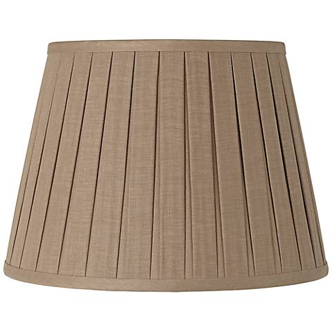 Taupe Open Box Pleat Linen Shade 11x17x11 (Spider)
