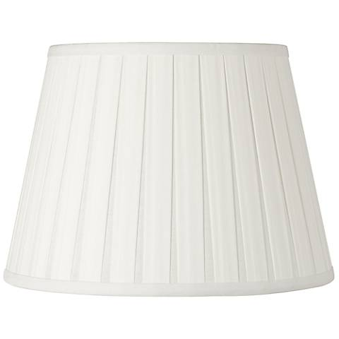 Off-White Open Box Pleat Linen Shade 11x17x11 (Spider)