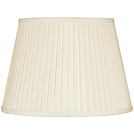 Eggshell Knife Pleat Linen Shade 10x14x10 (Spider)