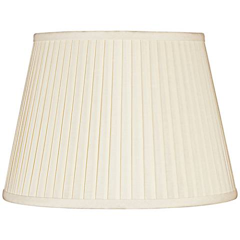 Eggshell Knife Pleat Linen Shade 11x17x11 (Spider)