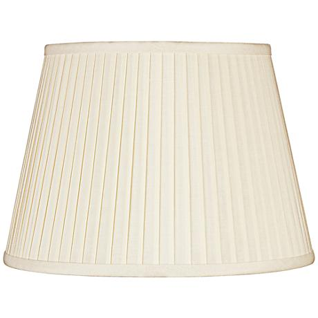 Eggshell Knife Pleat Linen Shade 12x18x12 (Spider)