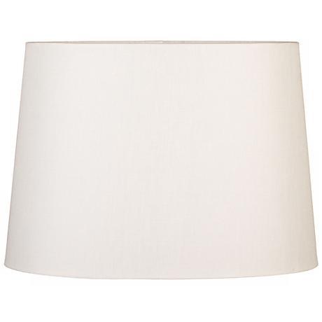 Eggshell Oval Hardback Linen Shade 10/7x12/8x9 (Spider)