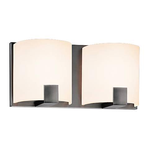 """Sonneman C-Shell 5"""" High 2-Light Satin Nickel LED Sconce"""